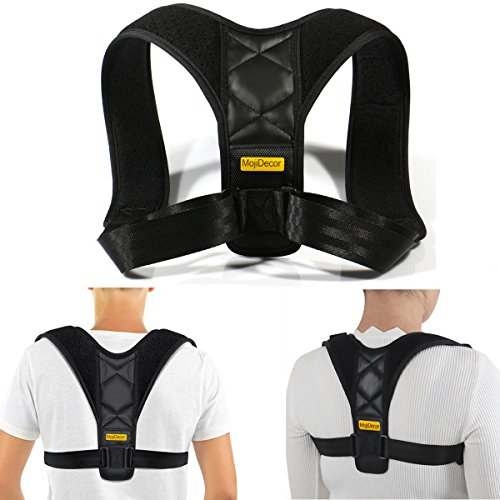 Straight Harness (AWSTECH Posture Corrector for Women Men Kids, Effective and Comfortable Posture Brace, Adjustable Clavicle Brace for Upper Back Pain Relief, Hunchback Correction)