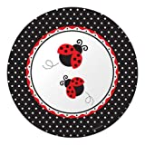 Creative Converting Ladybug Fancy Round Large Banquet Plates, 8-Count, Health Care Stuffs