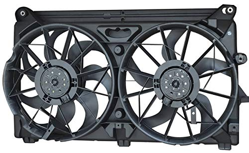 TOPAZ 15780788 Dual Radiator Cooling Fan Assembly for Chevy GMC Cadillac Pickup Truck SUV (Escalade Radiator Cadillac Replacement)