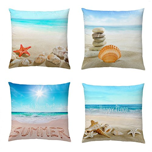 Cheap  Wonder4 Decorative Throw Pillow Covers Set of 4 Cotton Linen Cushion Covers..