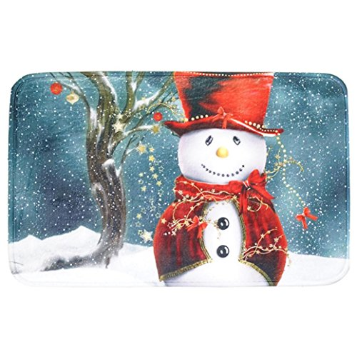 Popular Flannel Mat,Sikye Christmas Pattern Door Floor Bath Mat Indoor Carpets Rag Home Decor (A) (Shag Rag)
