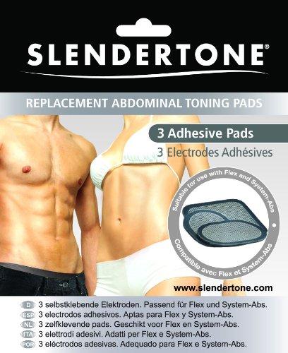 Coussinets de gel de remplacement Slendertone Flex pour abdominaux et Gymbody Ceintures (3) Tapis