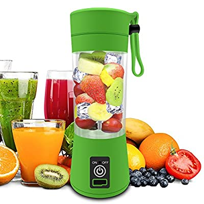 Smoothie Blender, Personal Blender, MONOLED Professional 380ML USB Rechargeable Juice Blender Food Processor Smoothie Maker Sport Bottle for Family,Office and Travel