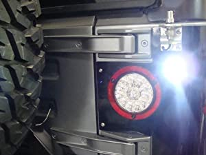 2 jeep cj yj jk tj led backup light 7 8 super. Black Bedroom Furniture Sets. Home Design Ideas