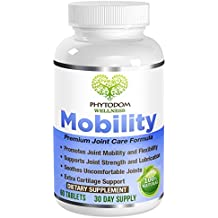 Mobility: Doctor Recommended Premium Joint Care Formula- #1 Anti-Inflammation,Pain & Ache Soothing Joint Lubrication Supplement- Glucosamine, Chondroitin Sulfate, MSM, Turmeric, Boswellia- 60 Tablets