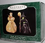 1997 Hallmark Ornament The Wizard of Oz Glinda, the Good Witch & Wicked Witch of the West Set of 2 Miniature Ornaments