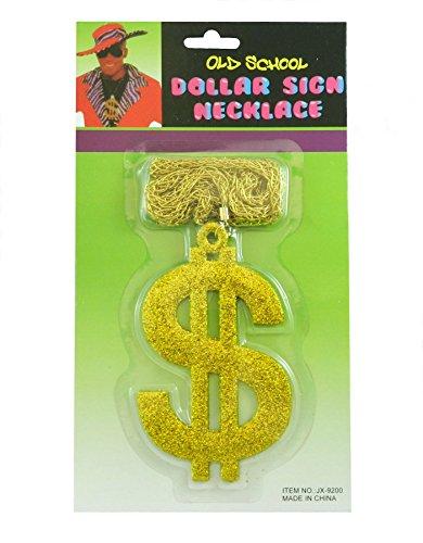 80's Style Pimp Dollar Sign Necklace (Necklace Dollar Sign Jumbo)
