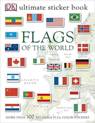 175 Multiple Countries Flag Stickers