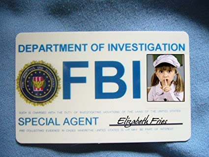 Products Amazon Fbi Fun Office Card com Intelligent Badges Id Beautiful Agent Identification