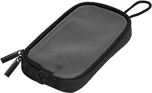 X AUTOHAUX Universal 7'' Magnetic Tank Bag with Headphone Hole PU Leather Waterproof Motorbike GPS Saddlebag for iPhone