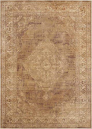 (Safavieh Vintage Premium Collection VTG112-660 Transitional Oriental Warm Taupe Distressed Silky Viscose Area Rug Oval (5'3