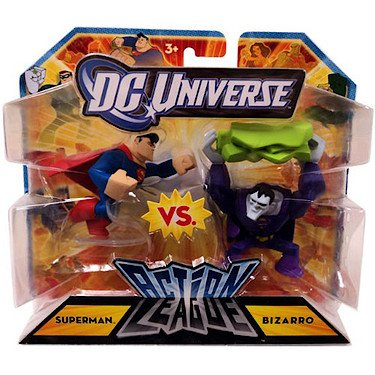 Mattel DC Universe Action League Superman vs. Bizarro 3-Inch Mini Figures - Mattel Dc Universe