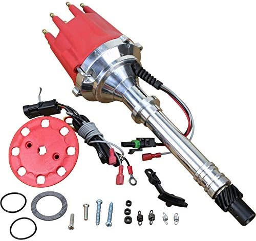 Dragon Fire High Performance Race Series Pro Billet Ready-to-Run Electronic Ignition Distributor Compatible Replacement For Chevy Chevrolet 327 350 400 427 454 SBC BBC Engines Oem Fit D83606-DF