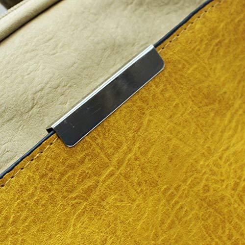 Mujer Para Misemiya Sr Caqui amarillo Mochilas Bolsos De Mochila 8576 pPpt7x