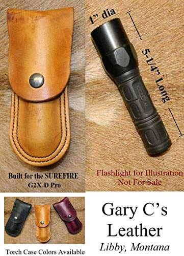 Leather - Torch Case, Built for Surefire 1