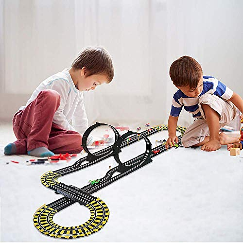 (Color Tree Rail Race RC Track Car Toys Build Your Own 3D Super Track Ultimate Slot Car Playset 2 Cars 2 Remote Controller Party Game)