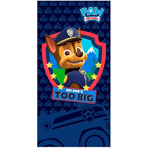 Paw Patrol Chase 'No Job's to Big' Kid Beach Towel 140 cm Microfiber cerda