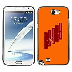 Shell-Star Art & Design plastique dur Coque de protection rigide pour Cas Case pour SAMSUNG Galaxy Note 2 II / N7100 ( Movie Hero Boxer Vintage Retro )
