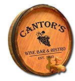 Personalized Canter's Wine Bar Quarter Barrel Sign