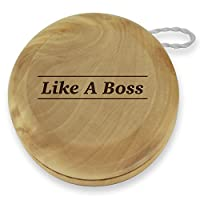 Dimension 9 Like a Boss Classic Wood Yoyo with Laser Engraving