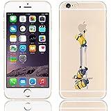 Coque iPhone 5s / Minions couvercle de gel de bande dessinée pour Apple iPhone 5s 5 / protecteur d'écran et écran chiffon par iCHOOSE / tirez des jeans