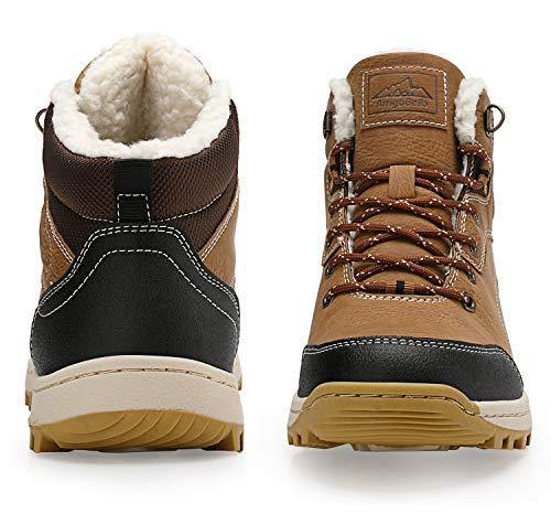 Homme De Imperméable Bottes Trekking Fourrure Bottines Neige Outdoor Chaussures jaune A8394 Boots Abtop Femme Hiver d5wXqdE