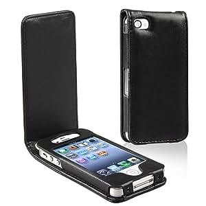 BONAMART ® Black PU Leather Case for Apple Iphone 4 4G