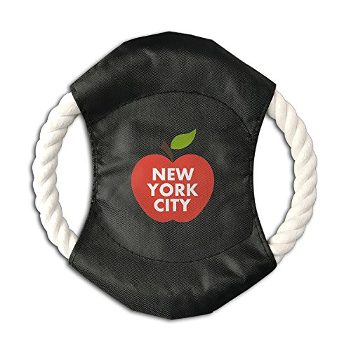 Pink Sky Big Apple New York City Hot Sale Pet Throw Toy Braided Cotton Rope Frisbee Dog Chew Toys Outdoor Training Tool Canvas Flying Disc (Orleans Outdoors Ny)