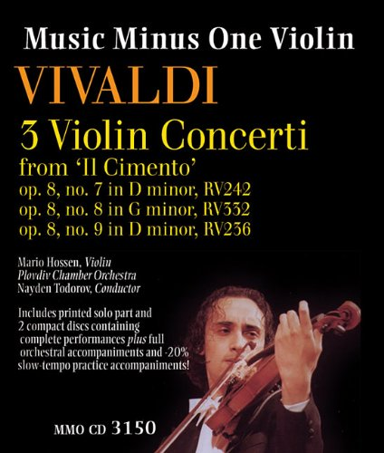 Download Vivaldi - 3 Violin Concerti from 'Il Cimento,' Op. 8, Nos. 7, 8, 9: Music Minus One Violin Deluxe 2-CD Set (Music Minus One (Numbered)) pdf epub