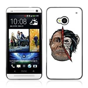 YOYOSHOP [Cool Man & Monkey Illustration] HTC One M7 Case Kimberly Kurzendoerfer