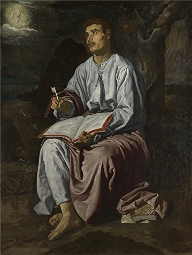 The Perfect Effect Canvas Of Oil Painting 'Diego Velizquez Saint John The Evangelist On The Island Of Patmos ' ,size: 16 X 21 Inch / 41 X 54 Cm ,this Imitations Art DecorativeCanvas Prints Is Fit For Nursery Artwork And Home Gallery Art And Gifts