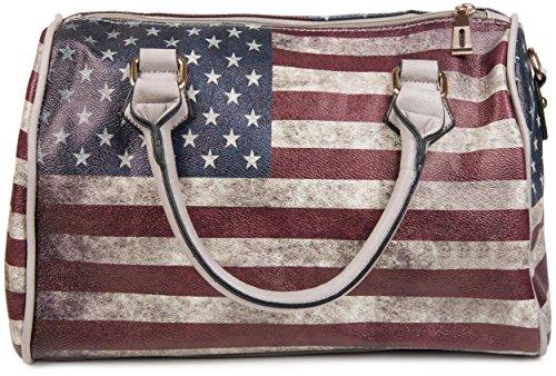 vintage uSA amp; en StyleBREAKER stripes sacoche sac sac stars BqA5Txp