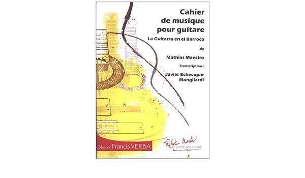 Quaderno Guitarra Barroco Peru: Amazon.es: Javier Echecopar ...