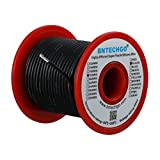 BNTECHGO 18 Gauge Silicone Wire Spool Black 50 feet Ultra Flexible High Temp 200 deg C 600V 18AWG Silicone Rubber Wire 150 Strands of Tinned Copper Wire Stranded Wire for Model Battery Low Impedance