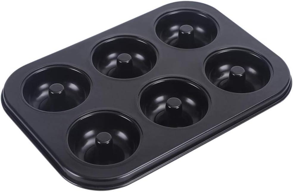 Non-Stick 6-Cavity Donut Baking Pans,High-grade Carbon Steel Donut Mold,Bagels Biscuit Cupcake Pan, Doughnut Bakeware for Oven Baking