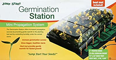 "Jump Start Germination Station w/Heat Mat, Tray, 72-Cell Pack, 2"" Dome"