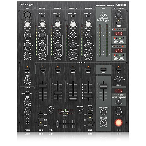 Behringer Pro Mixer DJX750 Professional 5-Channel DJ Mixer with Advanced Digital Effects and BPM Counter Behringer Pro Dj Mixer
