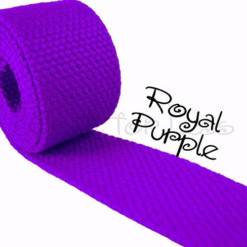 "5 Yard Cotton Webbing 1 1/4"" Medium Heavy Weight Royal Purple"