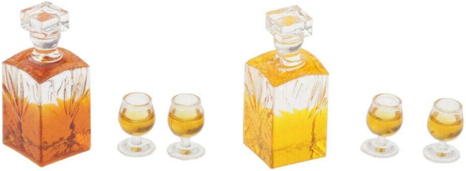 Facibom Accessori in Miniatura per Casa delle Bambole in Scala 1:12 Modello di Barra per Bottiglia di Vino Whisky