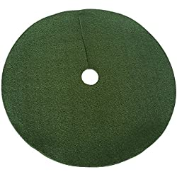 "Zen Garden Artificial Grass Christmas Tree Skirt w/Anti-Slip Rubber Base (36"" Diameter) 