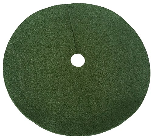 Zen Garden Artificial Grass Christmas Tree Skirt w/ Anti-Slip Rubber Base (48'' Diameter) | Realistic Synthetic Round Grass Rug | Indoor & Outdoor Xmas Tree Skirts | Unique Holiday Decorations (Green) by Zen Garden