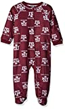 NCAA by Outerstuff NCAA Texas A&M Aggies Newborn & Infant Raglan Zip Up Coverall, Maroon, 18 Months