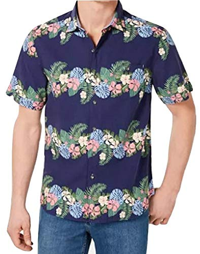 - Tommy Bahama Lei Low Stripe Camp Shirt (Color: Ocean Reef, Size XL)