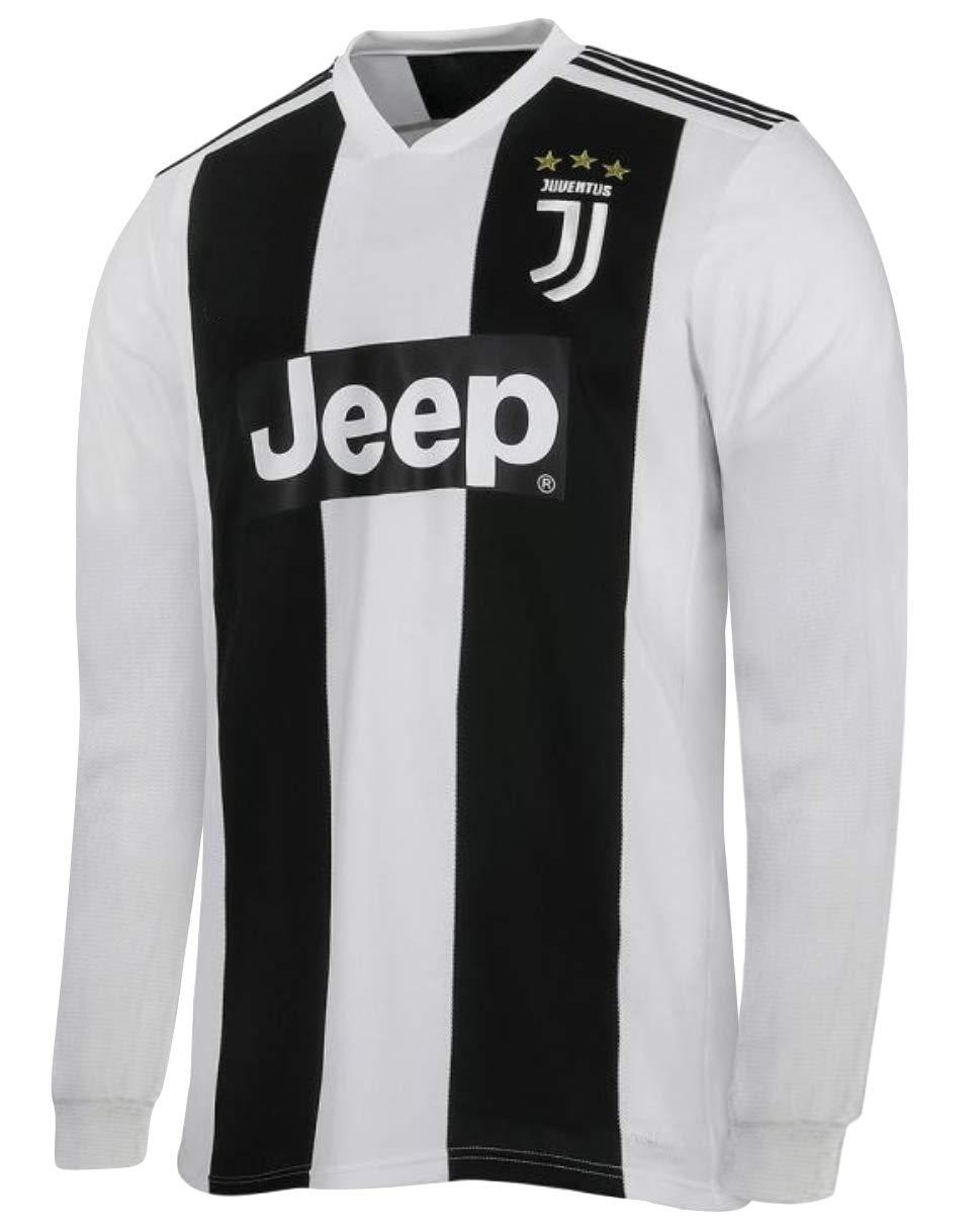 Cristiano Ronaldo Juventus #7 Youth Soccer Jersey Home/Away Long Sleeve Shorts Kit Kids Gift Set