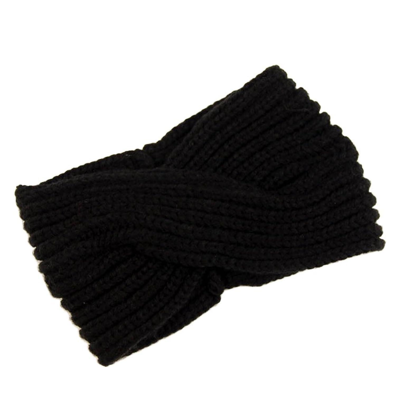 Natuworld Women Girls Autumn Winter Warm Knitted Wool Hairband Knotted Headband Head Warp Turban Hair Band