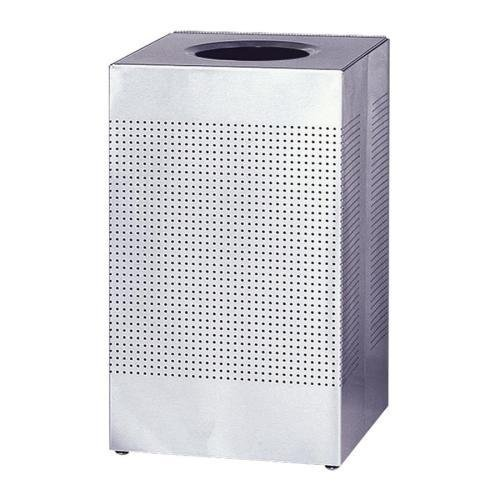 Rubbermaid Commercial SC14SSPL Designer Line Silhouette Open Top Receptacle - 16 gal Capacity - Square - 8.50