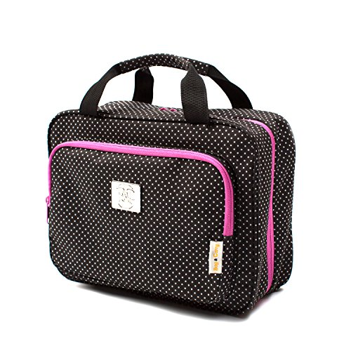 Large Polka Dot Travel Cosmetic Bag - Versatile Hanging Travel Toiletry Organizer (Polkadot)