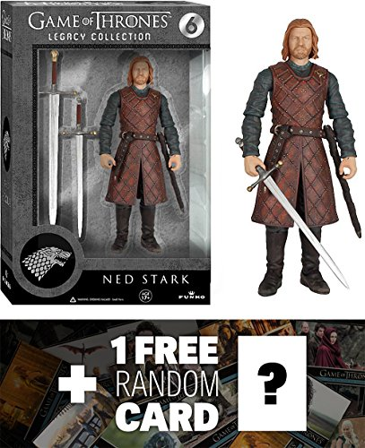 Ned Stark: Funko Legacy Collection x Game of Thrones Action Figure + 1 FREE Official Game of Thrones Trading Card Bundle [39097]