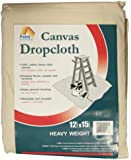 Paint Essentials 12-Feet x 15-Feet Canvas Drop Cloth HW1215