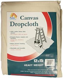 paint essentials 12feet x 15feet canvas drop cloth hw1215